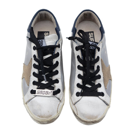 GOLDEN GOOSE SUPERSTAR LOW-TOP SNEAKERS - leefluxury.com