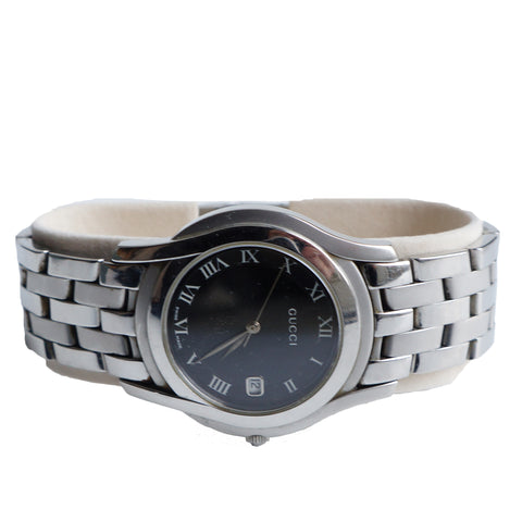 GUCCI 5500 SERIES STAINLESS STEEL BRACELET WATCH - leefluxury.com