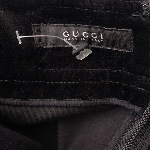 GUCCI BLACK VELVET 3 PIECE SUIT Shop online the best value on authentic designer used preowned consignment on Leef Luxury.