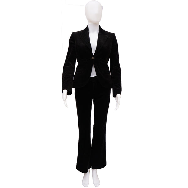 GUCCI BLACK VELVET 3 PIECE SUIT