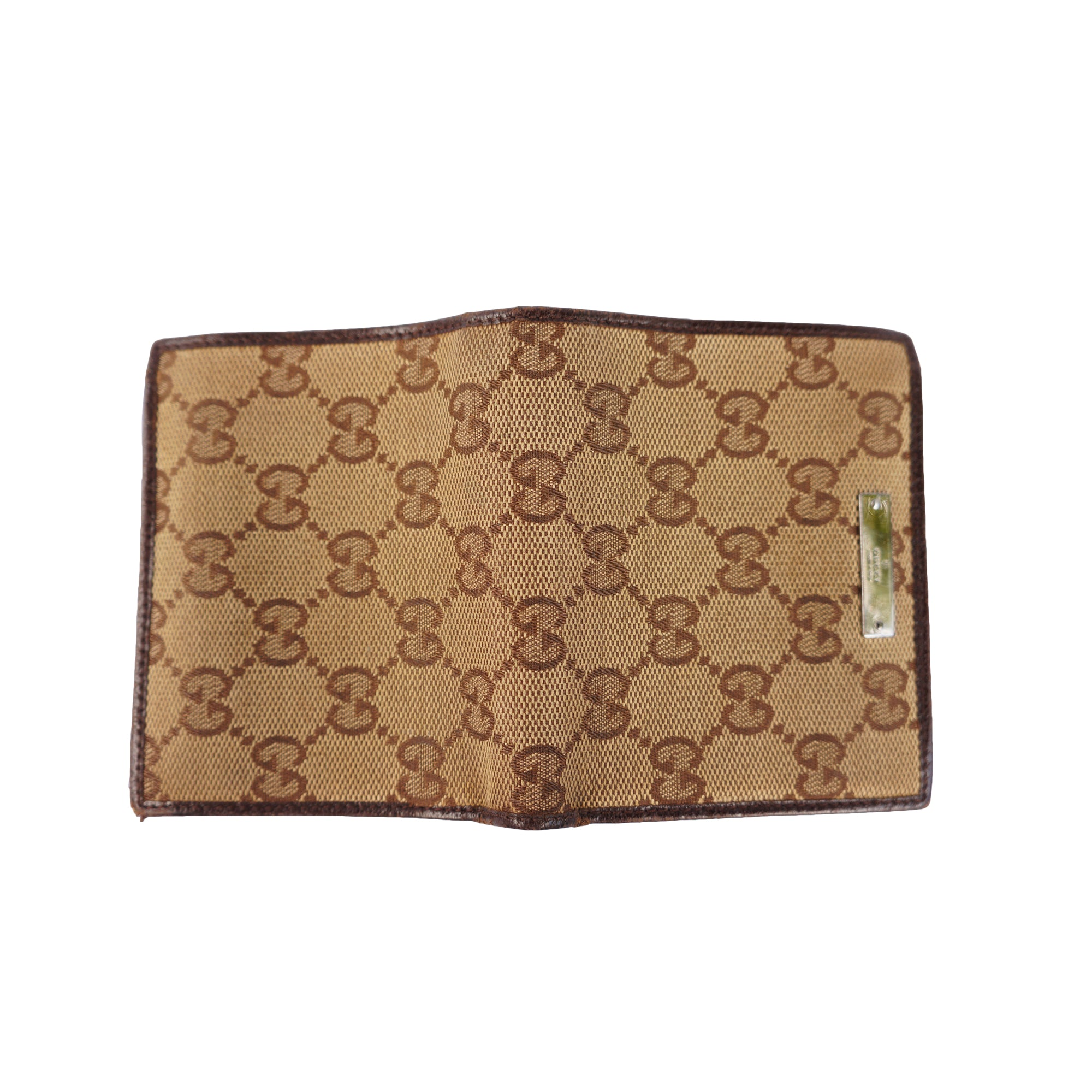 db7e8a983170 GUCCI GG CANVAS LEATHER WALLET – leefluxury.com