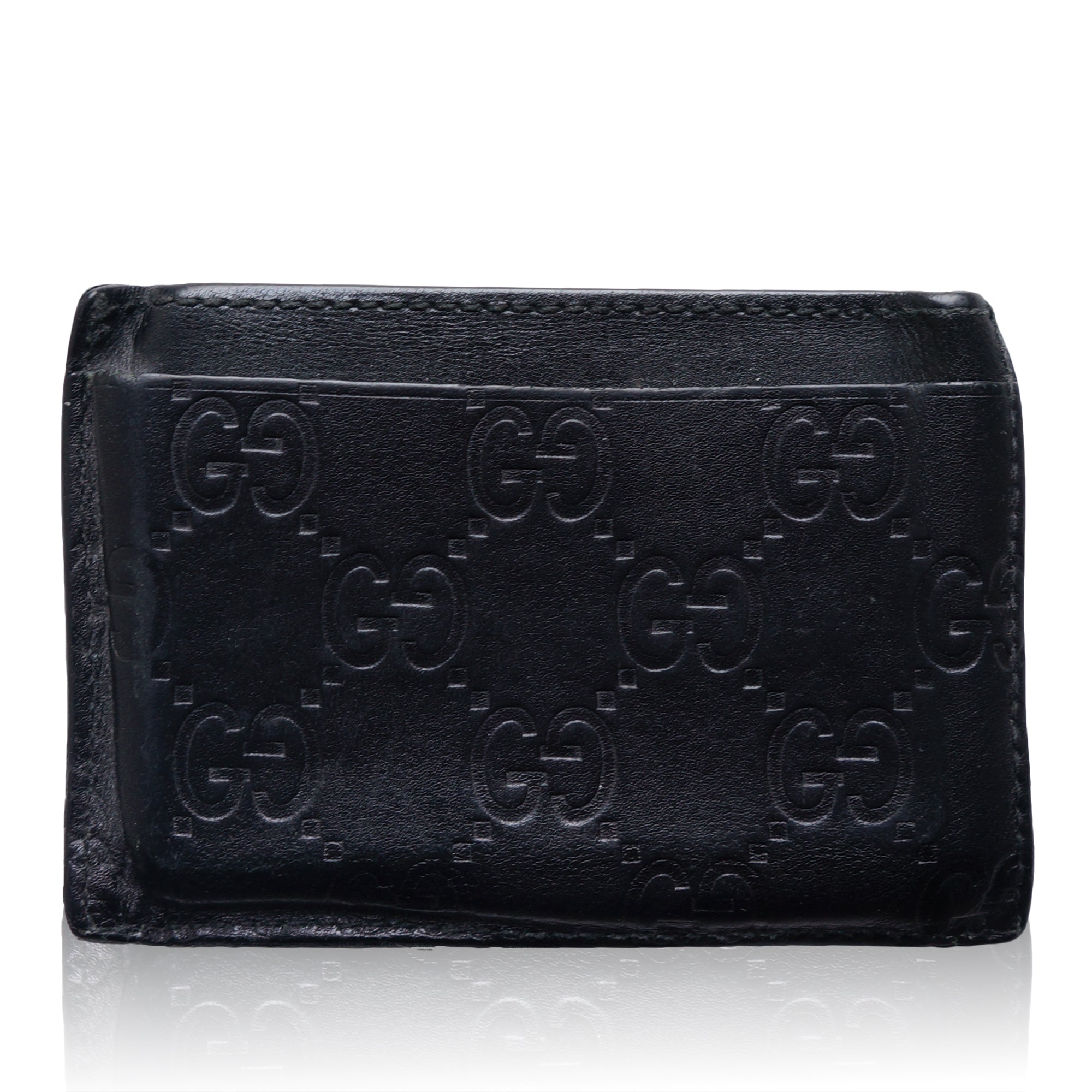 625fca55c40c GUCCI GG GUCCISSIMA CREDIT CARD LEATHER HOLDER Shop online the best value  on authentic designer used ...