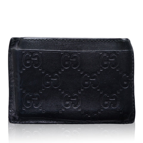 GUCCI GG GUCCISSIMA CREDIT CARD LEATHER HOLDER Shop online the best value on authentic designer used preowned consignment on Leef Luxury.