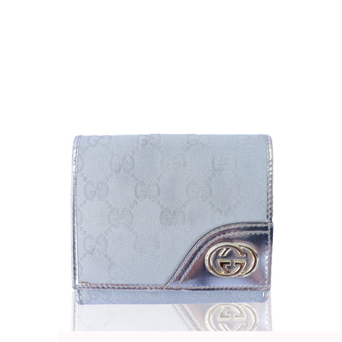GUCCI GG CANVAS BRITT COMPACT WALLET on Leef luxury authentic designer resale consignment