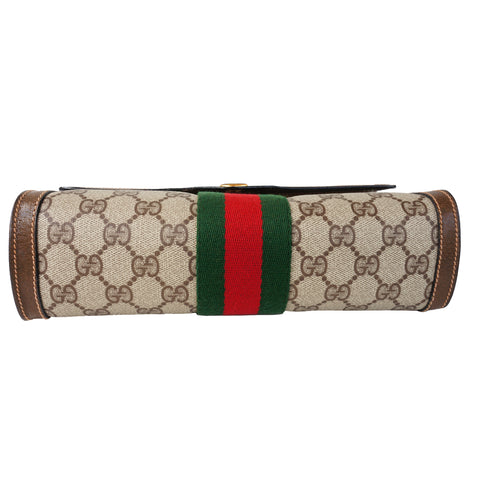 GUCCI GG SUPREME WEB CLUTCH BAG - leefluxury.com