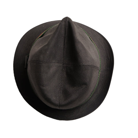 GUCCI WEB CANVAS FEDORA Shop online the best value on authentic designer used preowned consignment on Leef Luxury.