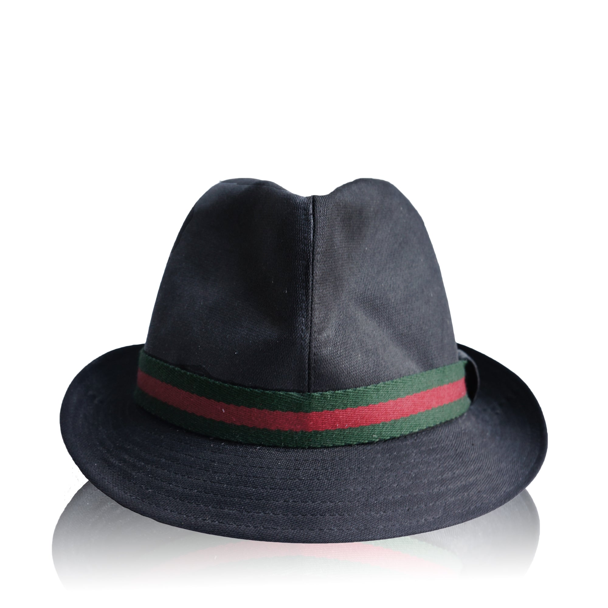 829c1cf55bf GUCCI WEB CANVAS FEDORA Shop online the best value on authentic designer  used preowned consignment on ...