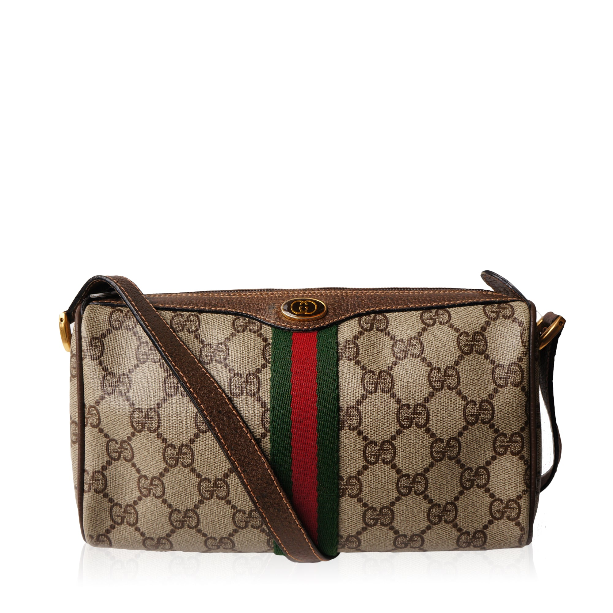 dc8ccb3ea23a GUCCI GG SUPREME WEB CROSSBODY BAG Shop online the best value on authentic  designer used preowned ...