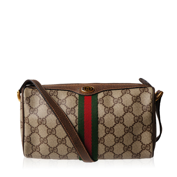 GUCCI GG SUPREME WEB CROSSBODY BAG