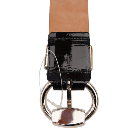 GUCCI PATENT LEATHER HORSE BIT BELT - leefluxury.com