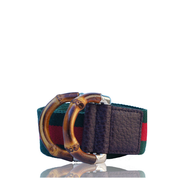 GUCCI WEB & BAMBOO BELT