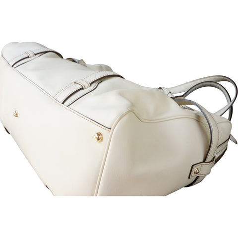 GUCCI CREAM 85TH ANNIVERSARY BOSTON BAG Shop online the best value on authentic designer used preowned consignment on Leef Luxury.