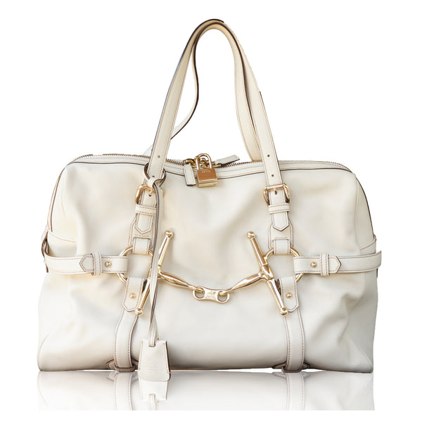 GUCCI CREAM 85TH ANNIVERSARY BOSTON BAG