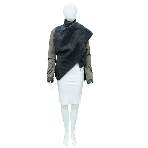 HAIDER ACKERMANN BOILED WOOL JACKET - leefluxury.com