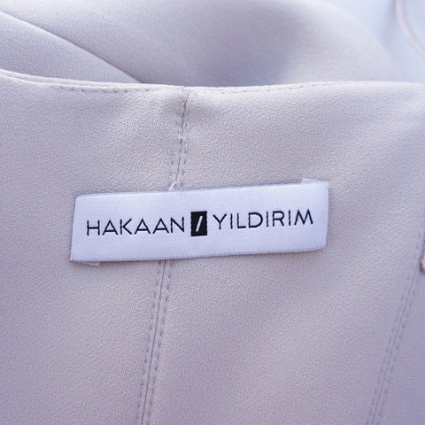 HAKAAN YILDIRIM STRAPLESS BUSTIER TOP COCKTAIL DRESS