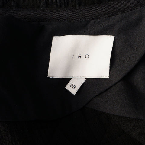 IRO METALASSÈ HEDDI BLACK JACKET