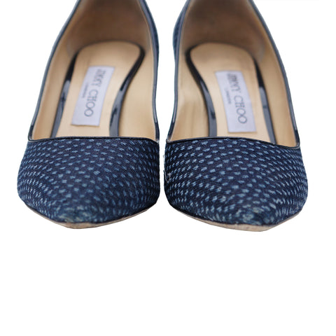Jimmy Choo Romy Fabric Heels Shoes - leefluxury.com