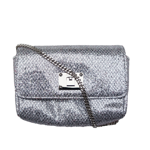 JIMMY CHOO RUBY GLITTER SHOULDER BAG