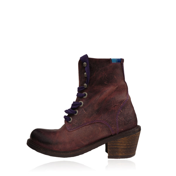JOHN FLUEVOG ADRIANA LACE UP LEATHER  ANKLE BOOT
