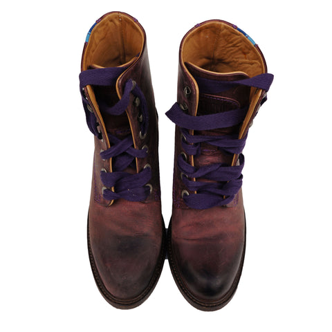 JOHN FLUEVOG ADRIANA LACE UP LEATHER  ANKLE BOOT - leefluxury.com
