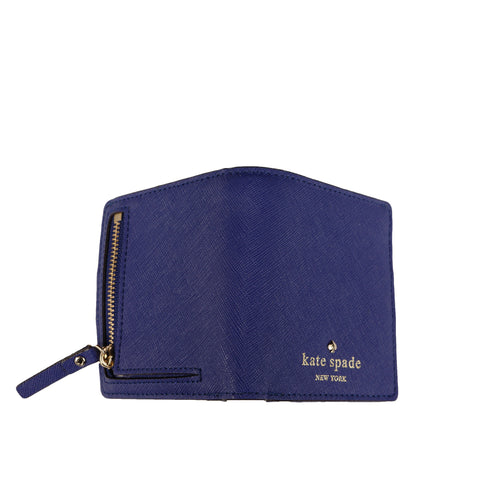 KATE SPADE NEW YORK LEATHER COMPACT WALLET - leefluxury.com