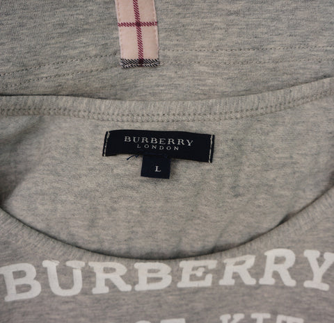 BURBERRY GREY SLEEVELESS T SHIRT