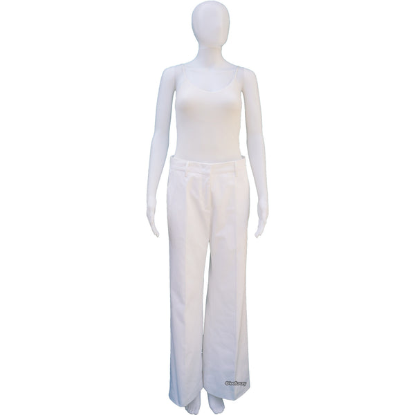 PRADA WIDE LEG WHITE DENIM PANTS