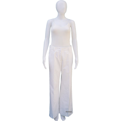 PRADA WIDE LEG WHITE DENIM PANTS on Leef luxury authentic designer resale consignment