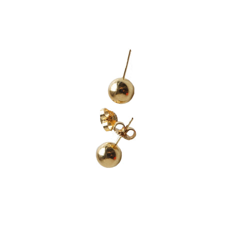 TIFFANY HARDWEAR 18K GOLD BALL EARRINGS - leefluxury.com