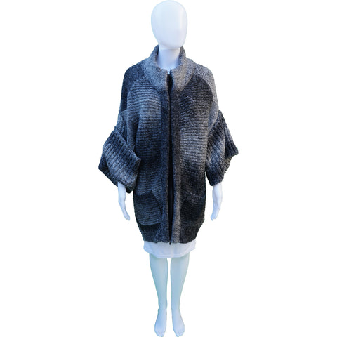 3.1 PHILLIP LIM WOOL-BLEND ZIP-UP SWEATER COAT Shop the best value on authentic designer resale consignment on Leef Luxury.