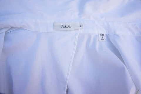 A.L.C. CUTOUT POPLIN TOP Shop the best value on authentic designer resale consignment on Leef Luxury.