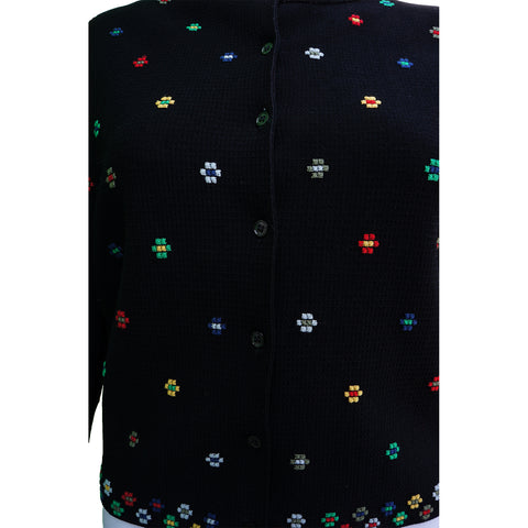 ALEXANDER MCQUEEN DIGITAL FLORAL PRINT BUTTON-UP CARDIGAN - leefluxury.com