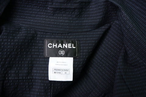 CHANEL LIGHT WOOL SEERSUCKER DRESS - leefluxury.com