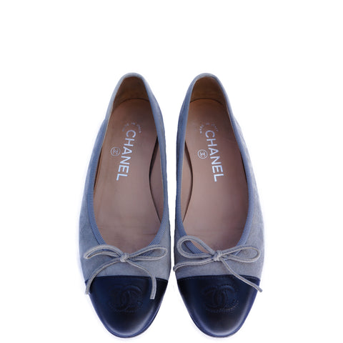 CHANEL 2014 SUMMER BALLERINA FLATS Shop the best value on authentic designer used preowned consignment on Leef Luxury