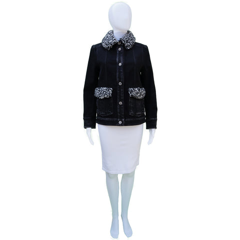 CHANEL PRE FALL 2016 DENIM JACKET Shop the best value on authentic designer used preowned consignment on Leef Luxury