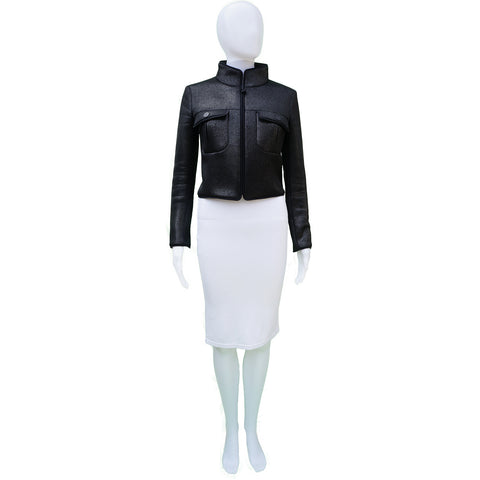 CHANEL MESH CROPPED JACKET Shop the best value on authentic designer used preowned consignment on Leef Luxury