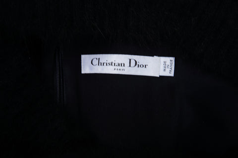 CHRISTIAN DIOR 2016 ANGORA BATEAU NECK SHIFT DRESS - leefluxury.com
