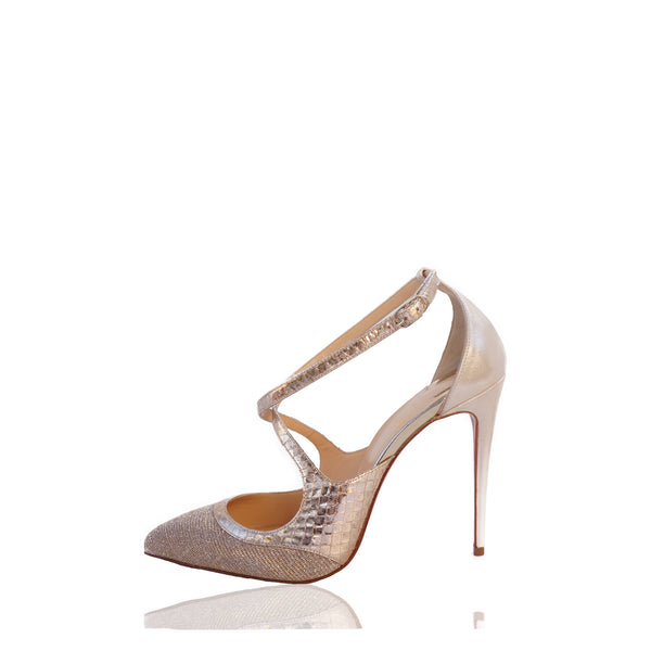 CHRISTIAN LOUBOUTIN CRISSOS 100 POINTED-TOE PUMPS