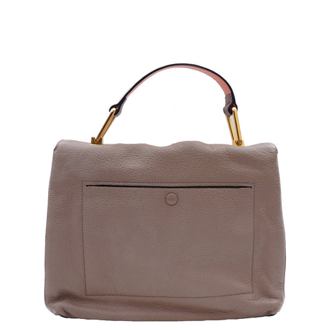 COCCINELLE GRAINED LEATHER TOP HANDLE BAG