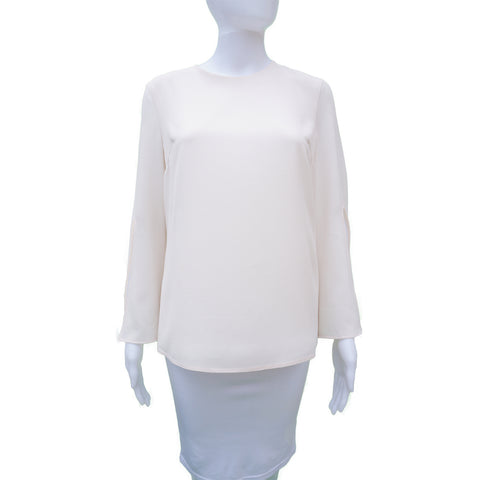 CUSHNIE ET OCHS BOXY LONG SLEEVE TOP - leefluxury.com
