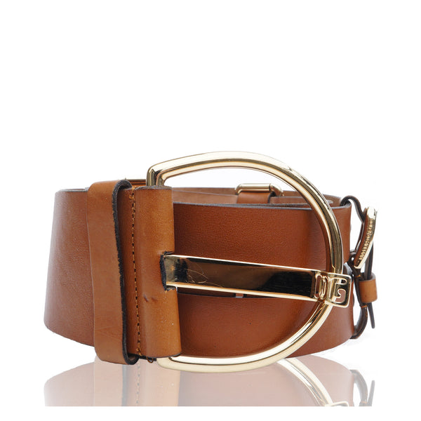 DOLCE & GABBANA LEATHER WIDE BELT