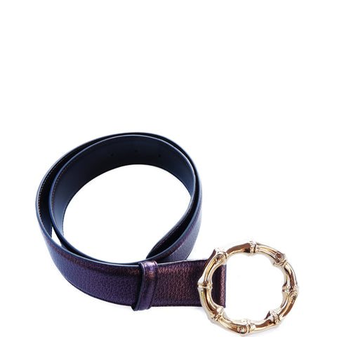 GUCCI TOM FORD BAMBOO LEATHER BELT - leefluxury.com