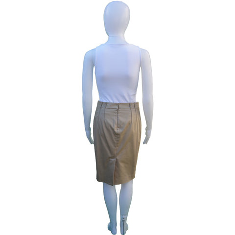 LORO PIANA KNEE-LENGTH PENCIL SKIRT - leefluxury.com
