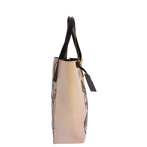 MARNI FLORAL PRINTED LEATHER TOTE BAG Shop the best value on authentic designer used preowned consignment on Leef Luxury