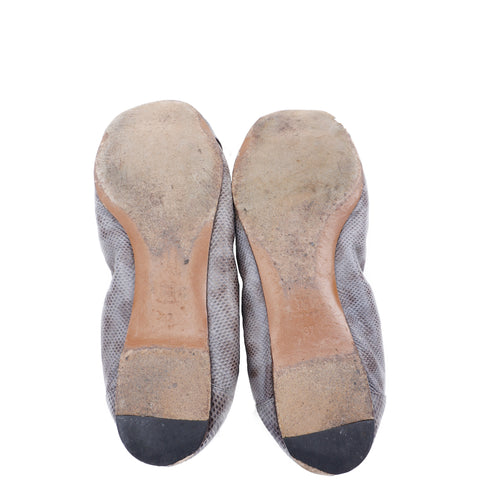 MARNI LEATHER SNAKESKIN LOOK BALLET FLATS Shop the best value on authentic designer used preowned consignment on Leef Luxury