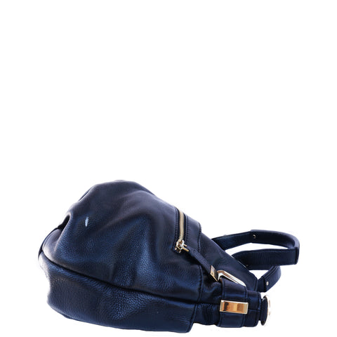 MICHAEL KORS GRAINED LEATHER SHOULDER BAG  Shop online the best value on authentic designer used preowned consignment on Leef Luxury.