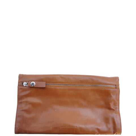 DRIES VAN NOTEN LEATHER FRAME CLUTCH - leefluxury.com