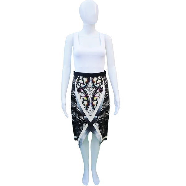 PETER PILOTTO DIGITAL PRINT KNEE-LENGTH SKIRT