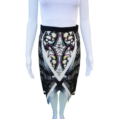 PETER PILOTTO DIGITAL PRINT KNEE-LENGTH SKIRT Shop the best value on authentic designer resale consignment on Leef Luxury