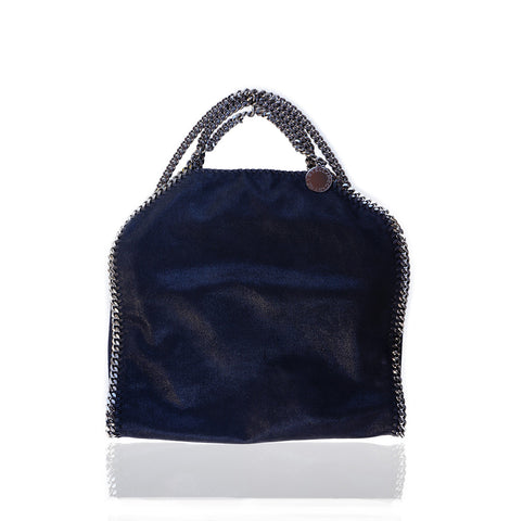 STELLA MCCARTNEY SHAGGY DEER FALABELLA FOLD-OVER TOTE on leef luxury